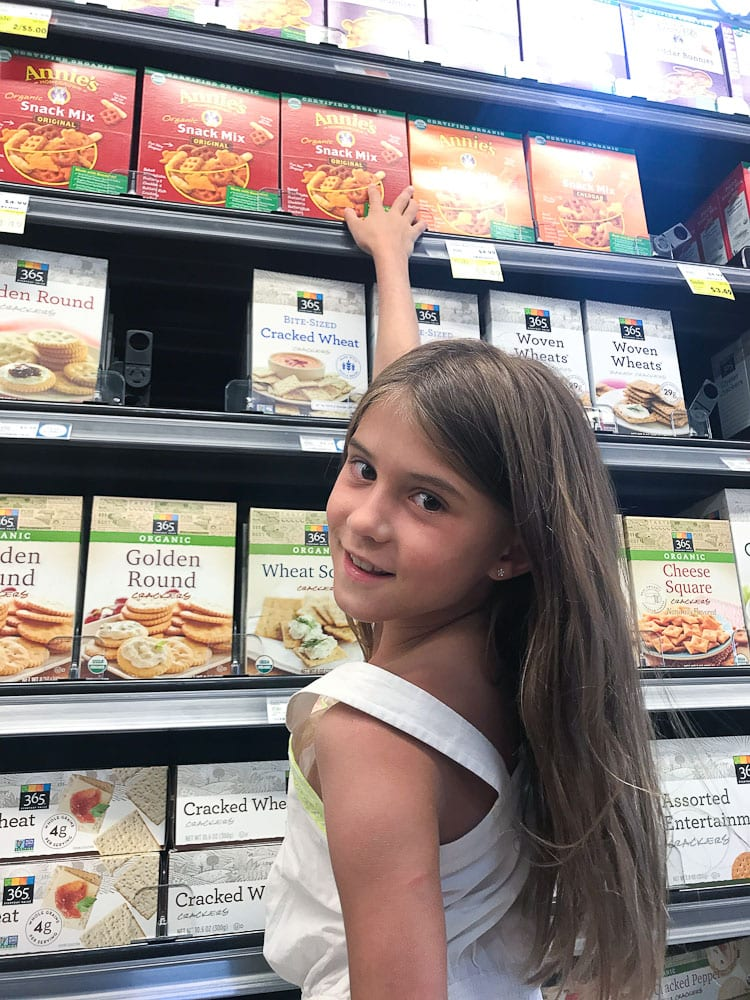 Shopping at Whole Foods for Annie's products