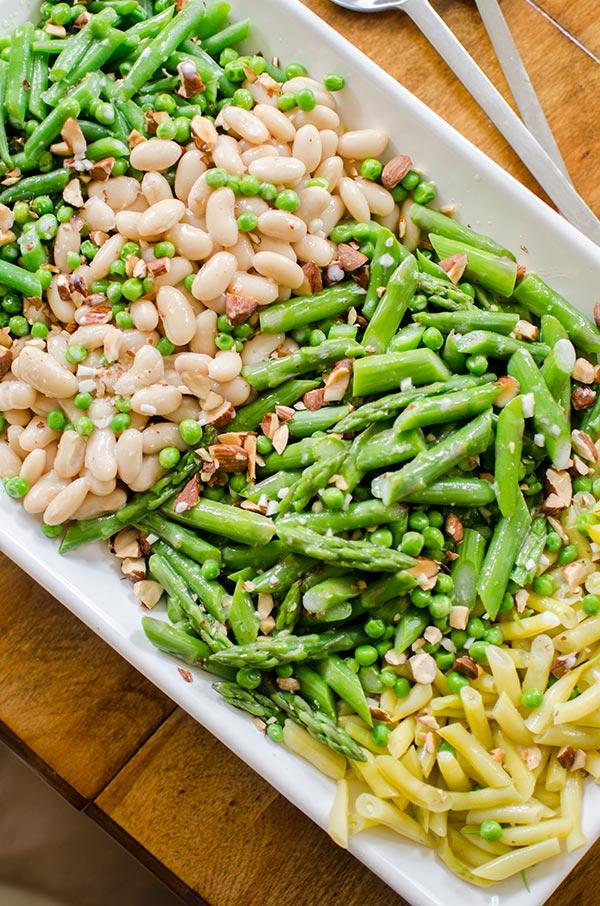 Green Bean Recipes -Three-Bean Garden Salad