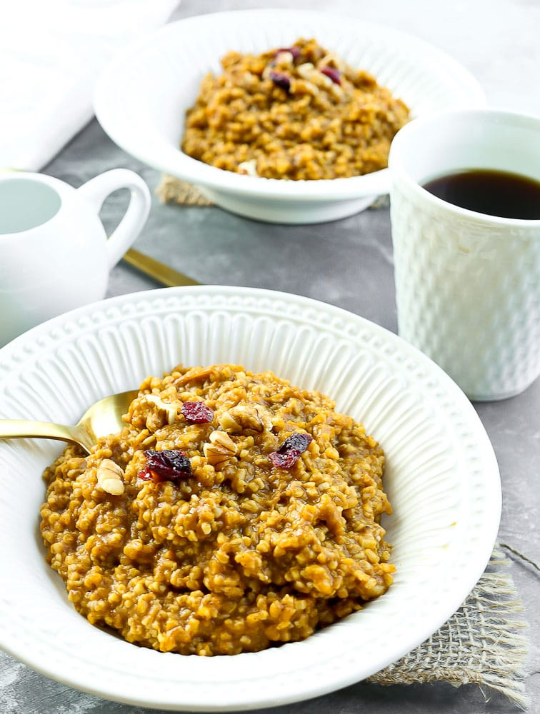 Pumpkin Spice Steel Cut Oatmeal REcipe amazing