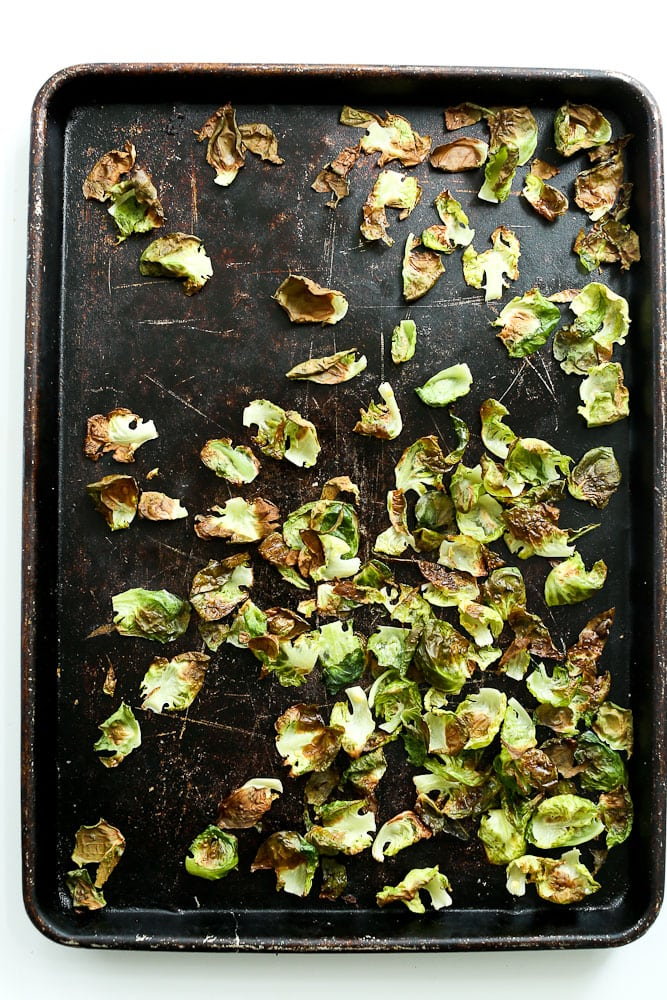 Crispy Brussels Sprouts Chips after