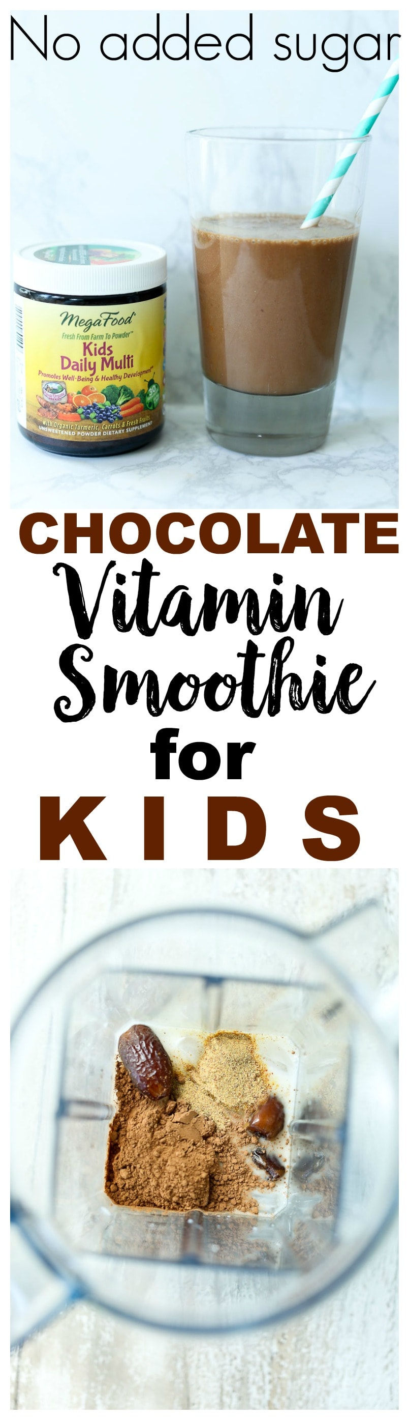 MegaFood Kids Daily Multi Review Chocolate Vitamin Smoothie for Kids