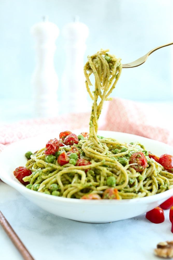 Arugula Pesto Pasta recipe