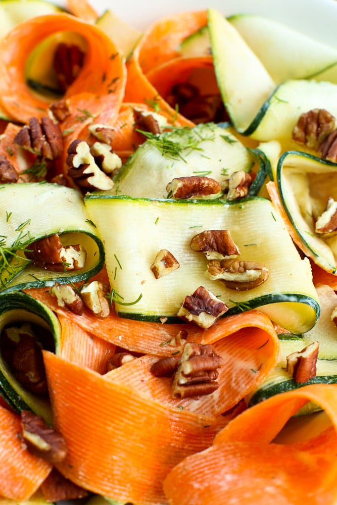 Shaved Vegetable Salad recipe #salad #recipes #healthyrecipes #vegetarian #summer #barbecue #potluck #shavedvegetables #vegetables #glutenfree #easy #healthy #quick #light