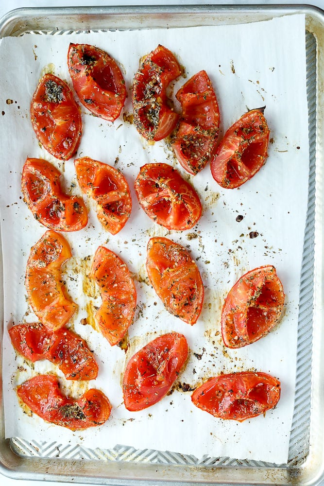 How to make Roasted Tomatoes in the oven after shot