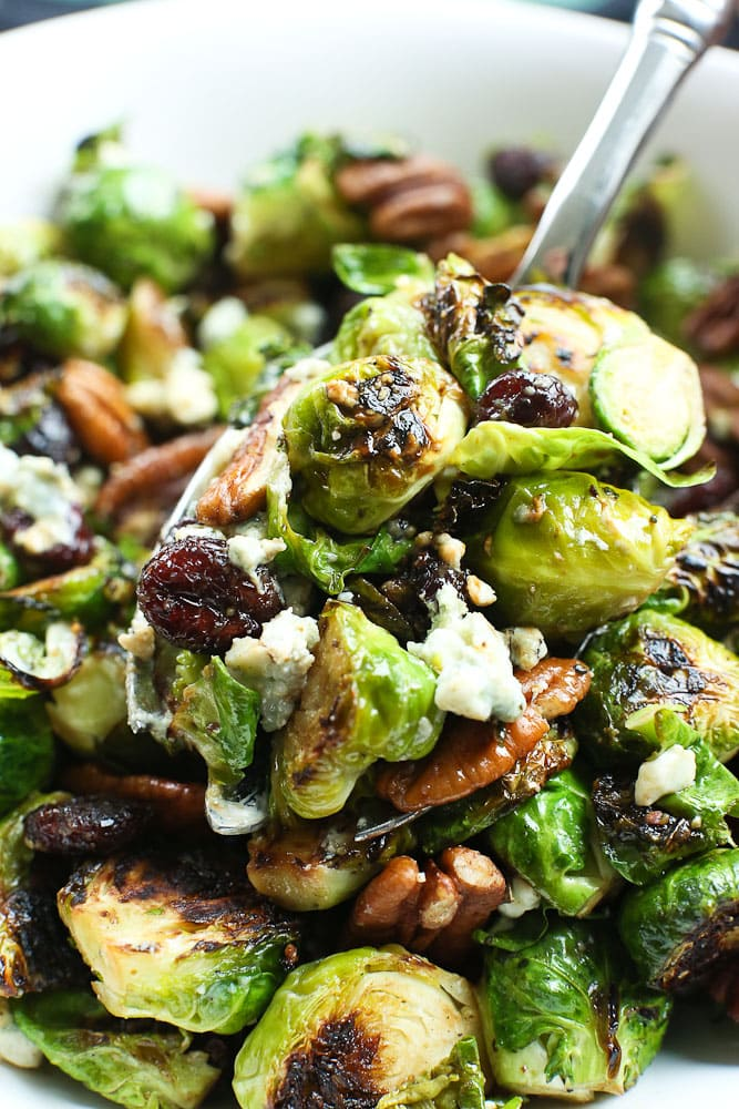 Sauteed Brussels Sprouts with dried canberries