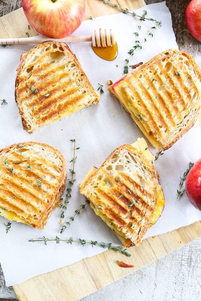 the best Apple Panini recipe with honey mustard