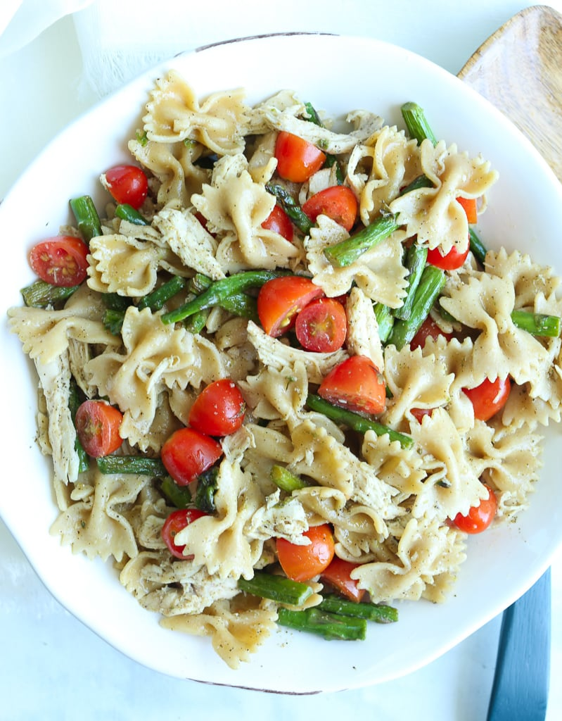 Bowtie Pasta Salad with Italian Dressing Recipe in a bowl