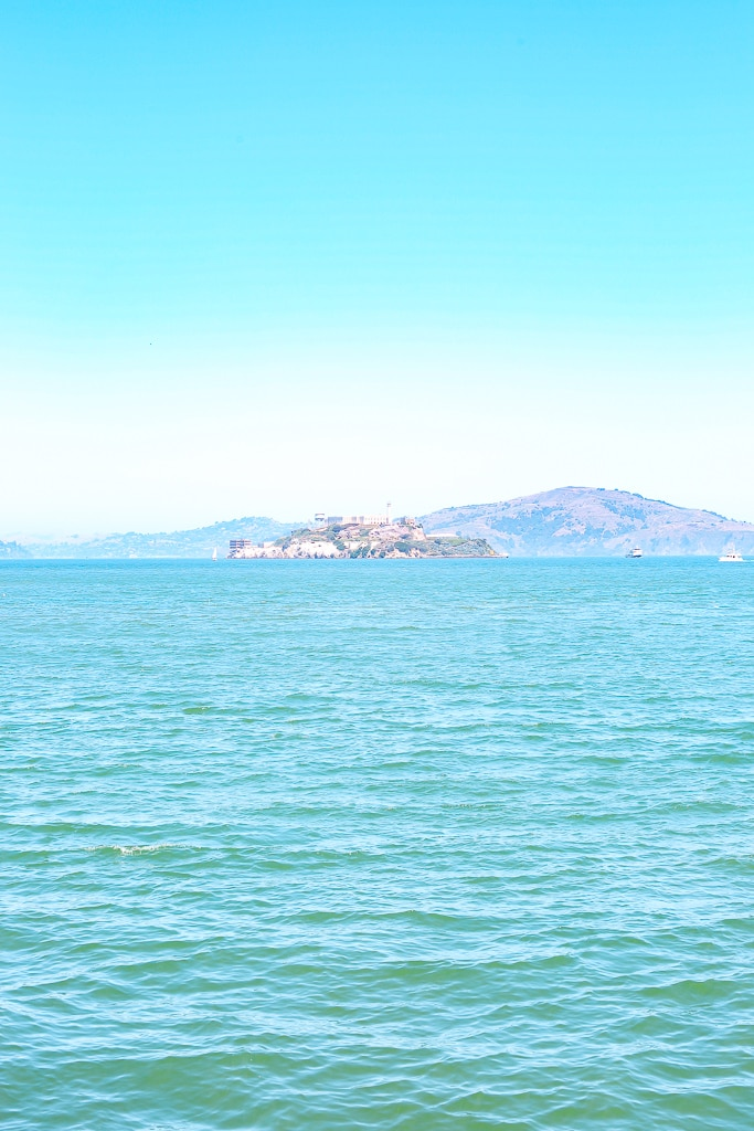 views of alcatraz from Fisherman's Wharf