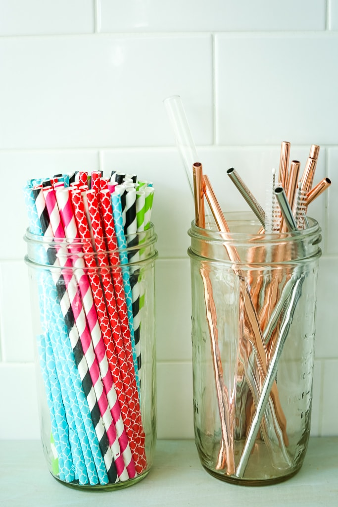 Best Reusable Straws and Plastic-Free Straws in glass jars