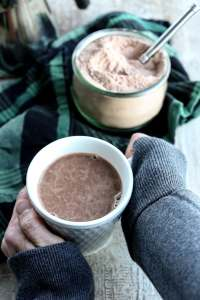healthy Homemade Hot Chocolate Mix Recipe in a mug