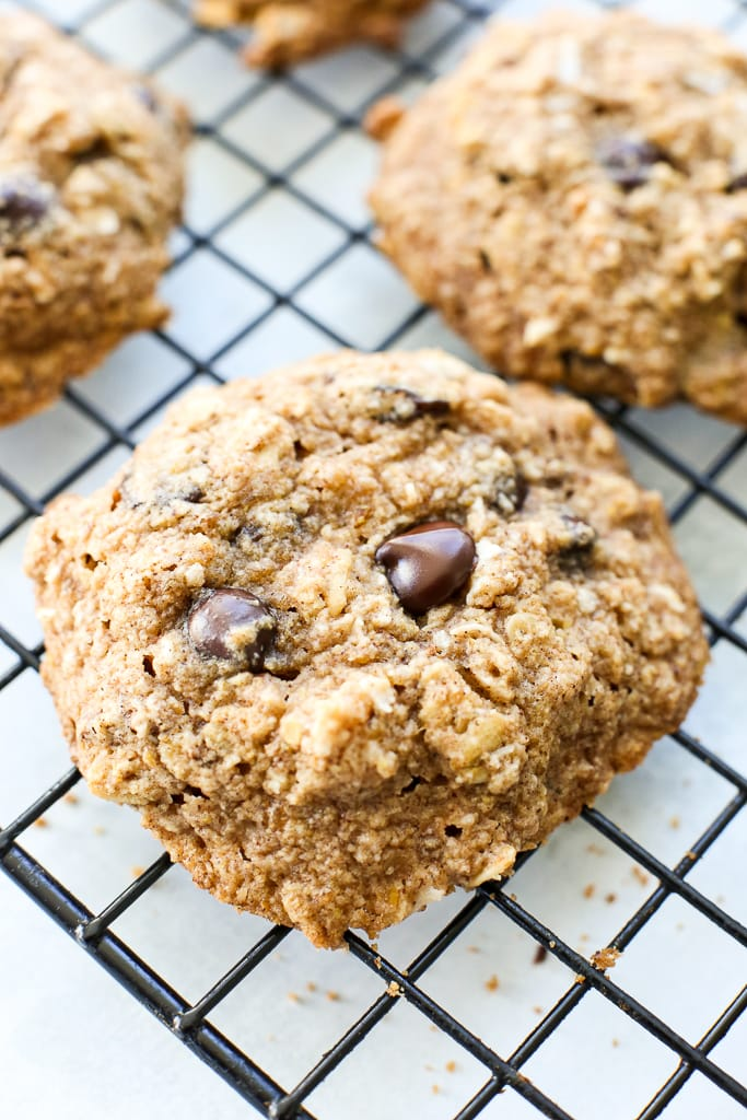 Loaded Soft Oatmeal Cookies (vegan, gluten free, and no added sugar)