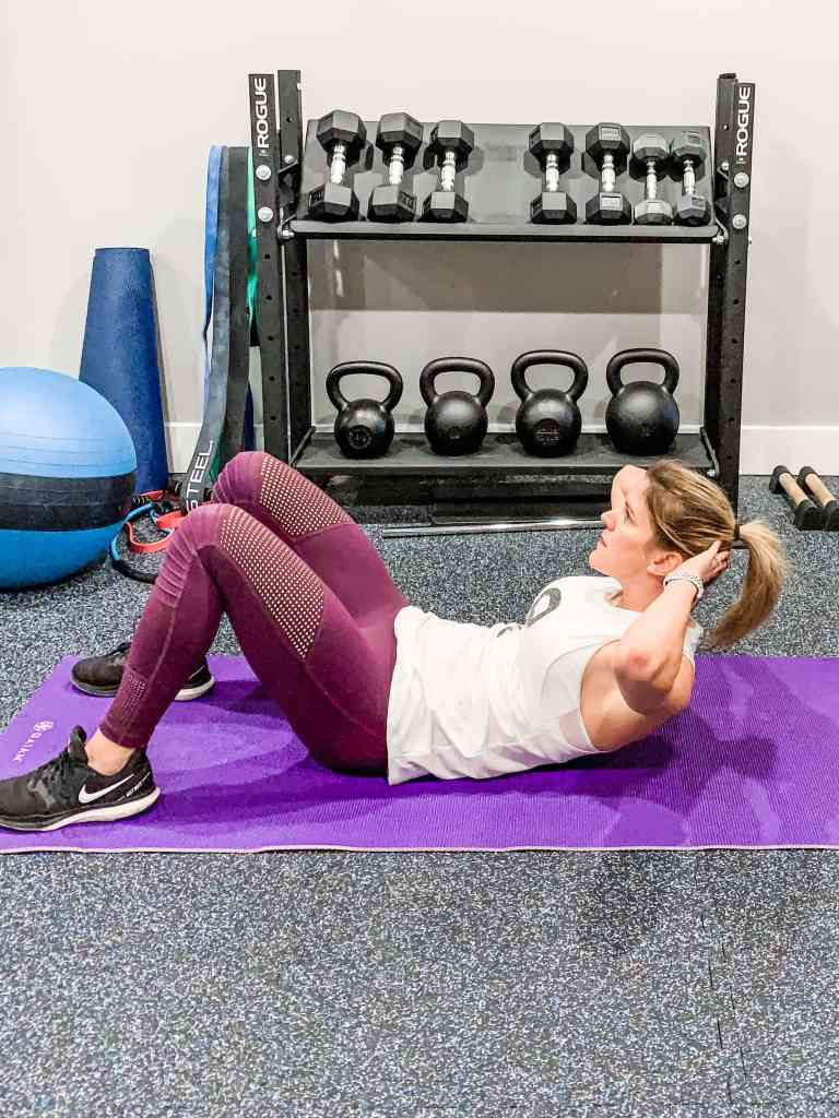 At-Home Circuit Workout Crunches