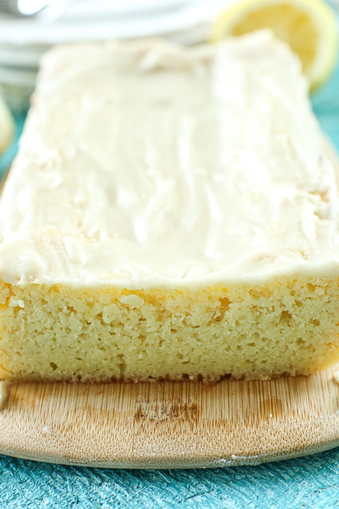 close up of the Lemon Loaf Cake
