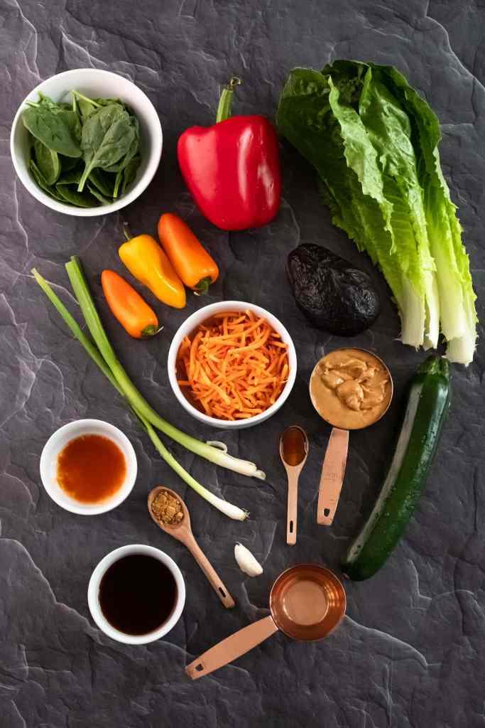 ingredients for Vegan Spring Rolls Recipe