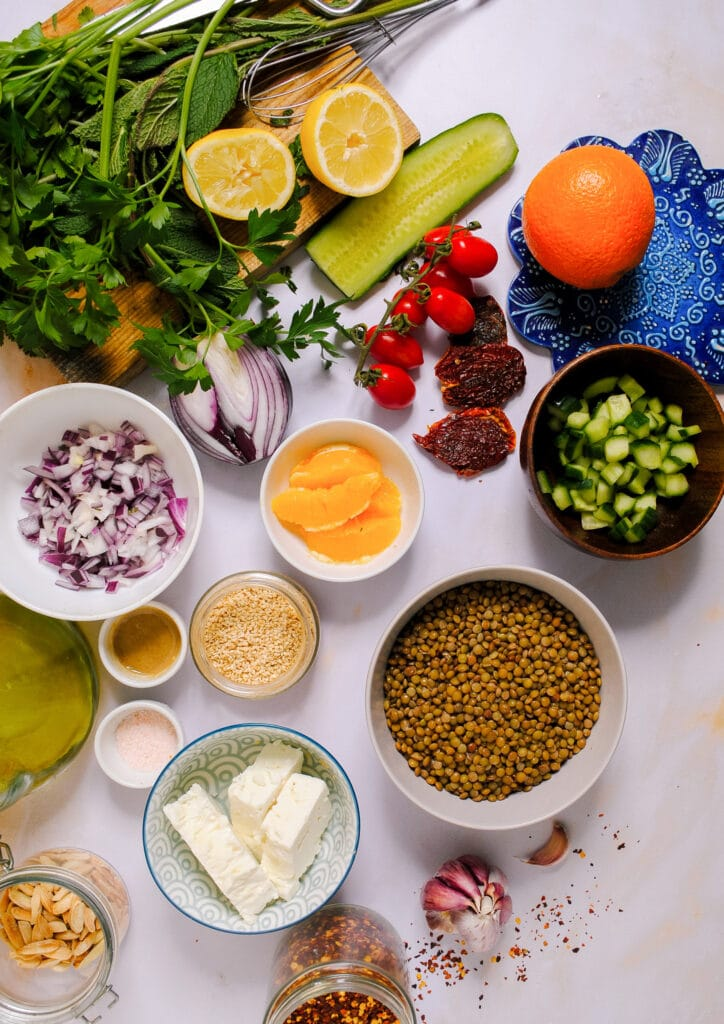 lentil salad recipe ingredients