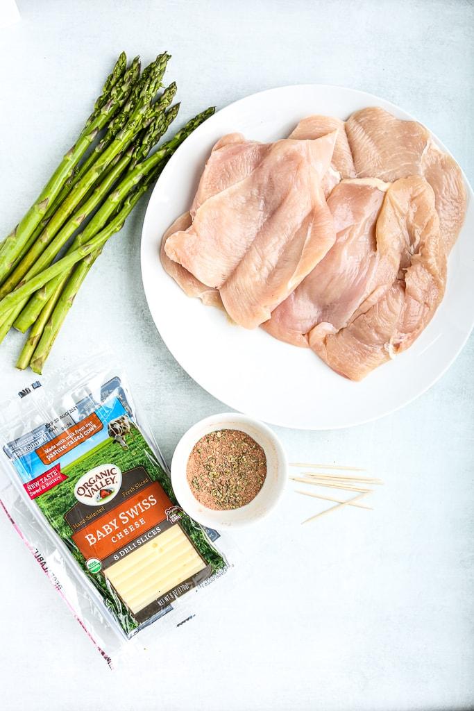 Asparagus Stuffed Chicken Breasts recipe ingredients