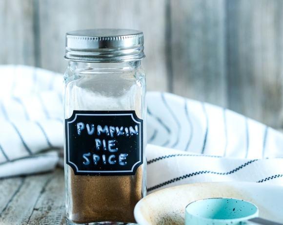 a jar of homemade pumpkin pie spice