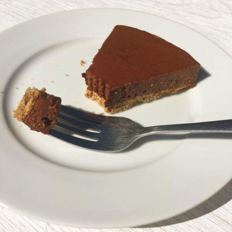 Choc orange cheesecake slice