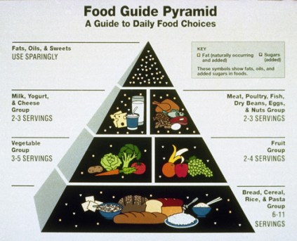 1990 Food Guide Pyramid for Health and Fitness