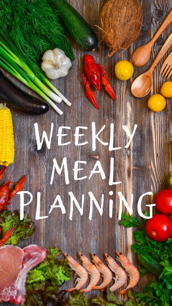 Weekly Meal Planning Surrounded by Healthy Foods