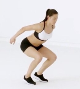 Jump Squat on Toes for HIIT Workout