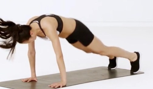 Side to Side Plank for HIIT Workout