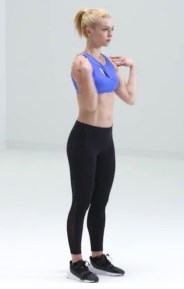 Forward Elbow Circles for HIIT Workout