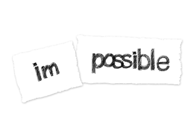Impossible made into Possible show positive self-talk
