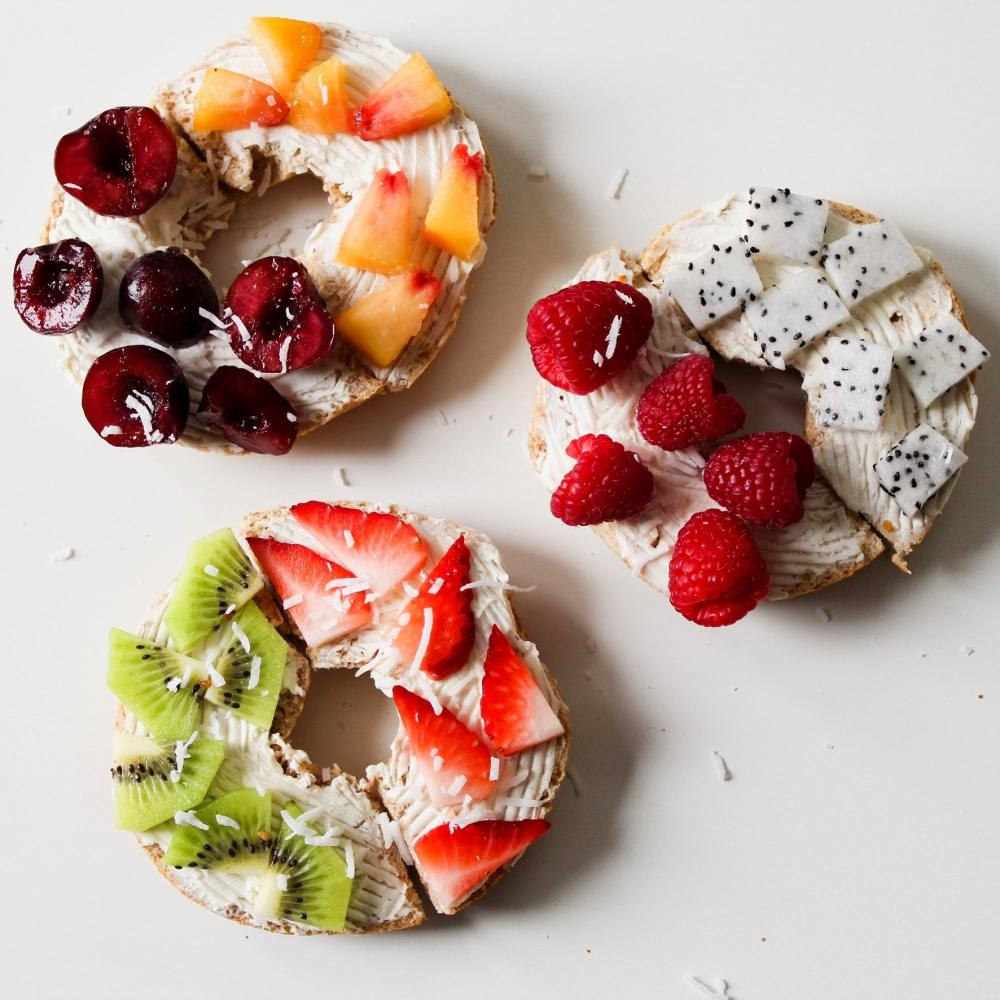 Bagels with Different Topping Options - Mix it Up to Get Over Plateau