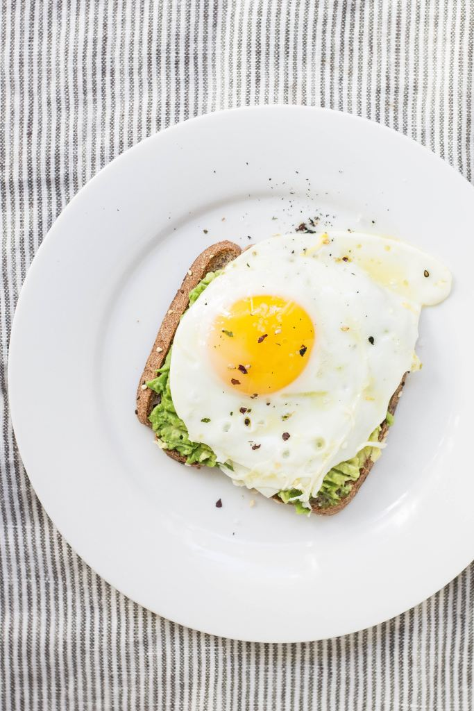 Avocado and Egg on Toast for Protein