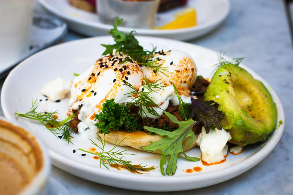 Common Cooking Mistake- Not Branching Out-Poached Eggs with Avocado on a Pancake