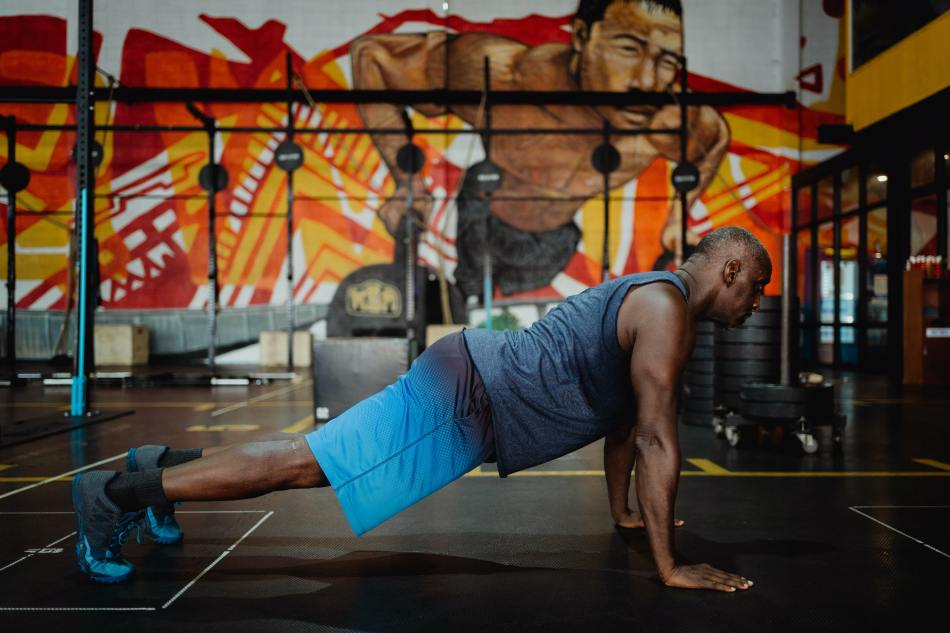 How To Do The Beginner Buprees Exercise- Man In Push-Up Position