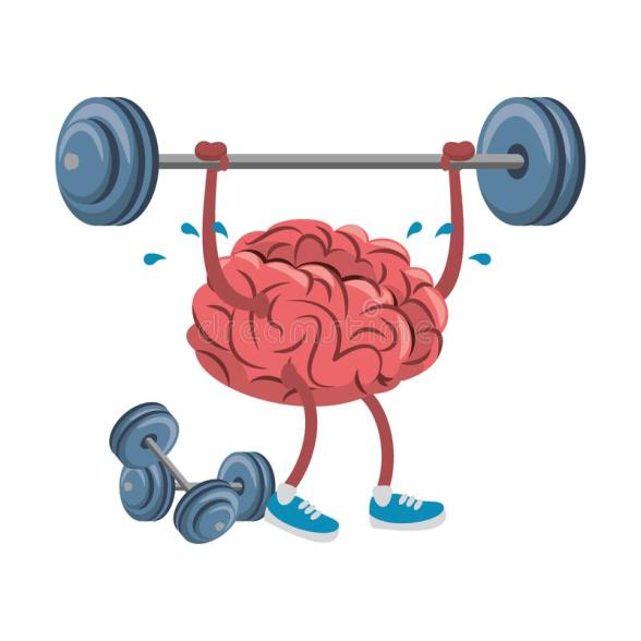 Burpees Exercise Builds Mental Strength- Brain With Barbell