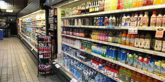 Sports Drinks in a Grocery Store