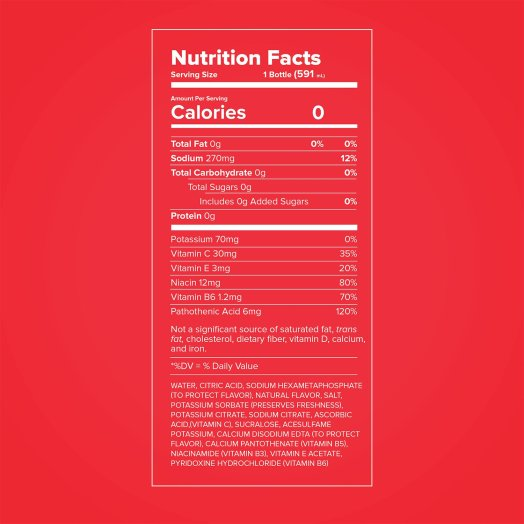 Propel Sports Drinks Nutrition Facts Label