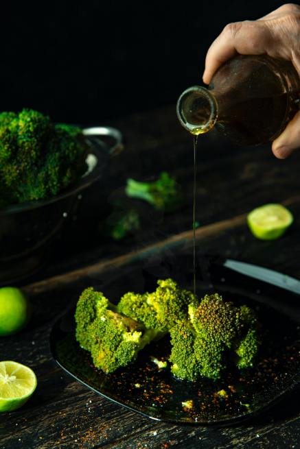 Broccoli Drizzled With Olive Oil - Serving Size