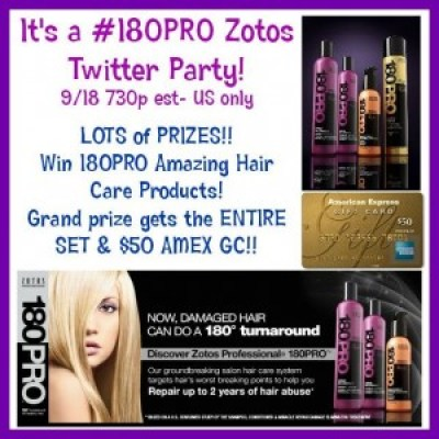 #180Pro Hair Care Giveaway & Twitter Party1