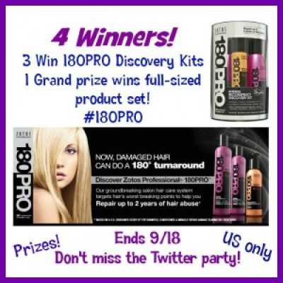 #180Pro Hair Care Giveaway & Twitter Party