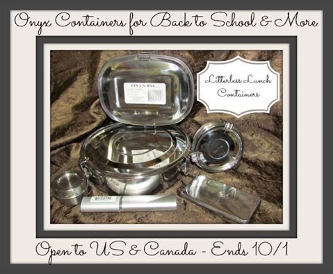 Onyx Stainless Steel Containers Giveaway
