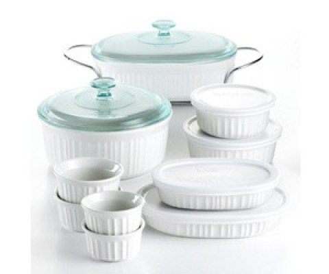 Corningware French White 17 Piece Bakeware Set Sweepstakes
