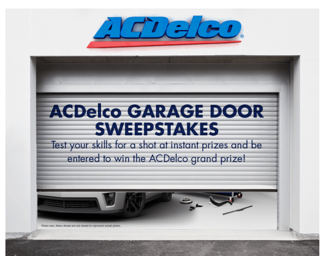 ACDelco Garage Door Sweepstakes