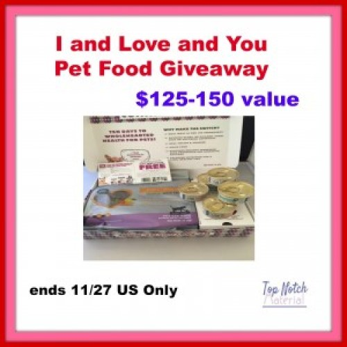 I and Love and You Pet Giveaway