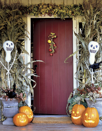 Halloween Front Door Image from CountryLiving.com