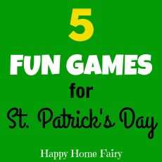 Five Fun Games for St. Patrick's Day!