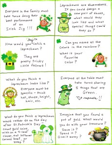 St. Patrick's Day Conversation Cards – FREE Printable!
