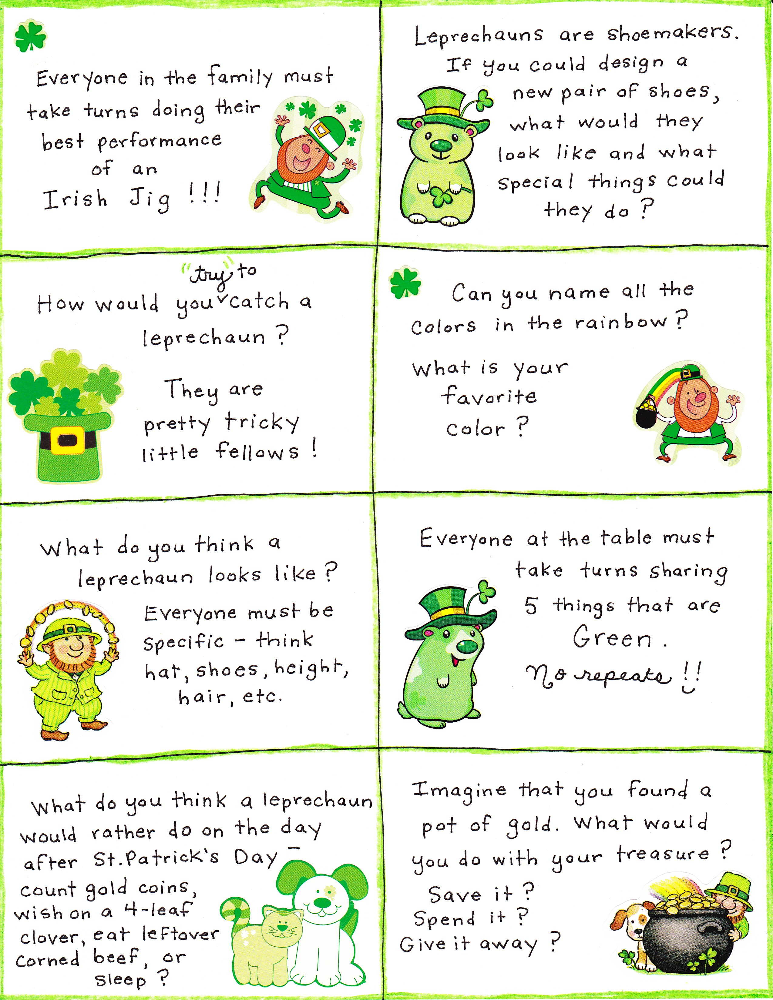 picture about St Patrick's Day Cards Free Printable named St. Patricks Working day Communication Playing cards - No cost Printable