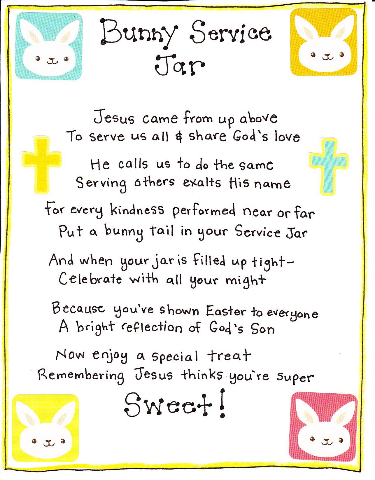 Bunny Service Jar