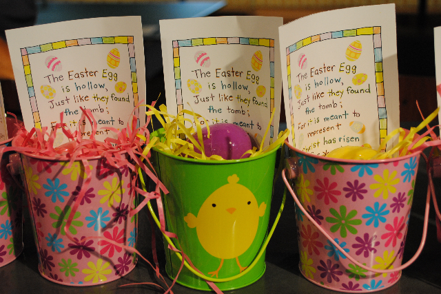 Easter party favor empty egg pails happy home fairy the negle Image collections