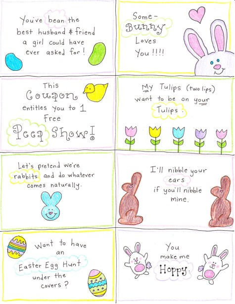 An easter basket for the happy hubby free printables happy home click here to print your happy hubby easter cards negle Gallery