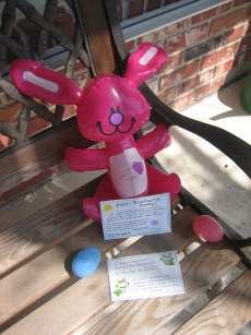 Inflatable Bunnies and the Easter Story – FREE  Printables!